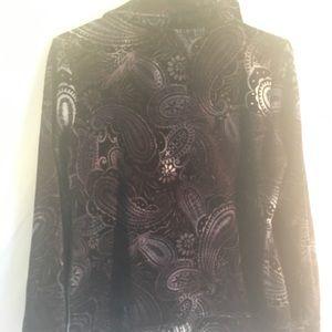 Style & Co Sport velvet like travel suit. Size P/M